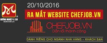 Ra mắt website chefjob.vn