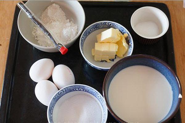 Nguyên liệu làm bánh choux