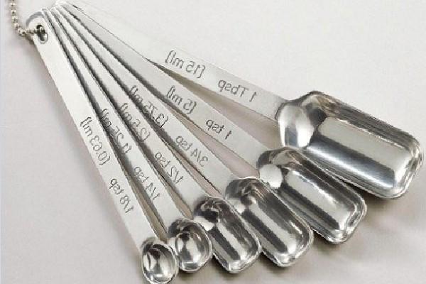 Thìa đong theo đơn vị teaspoon