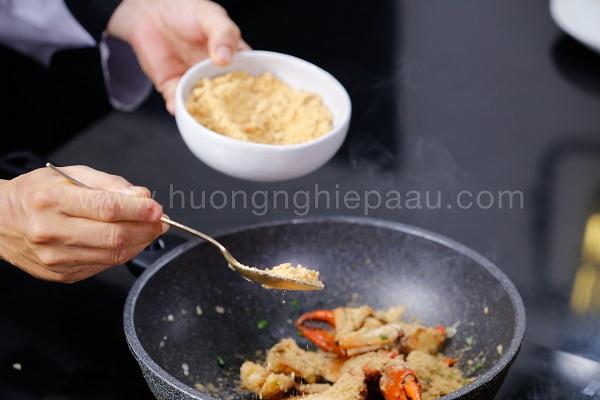 rang cua với muối xay