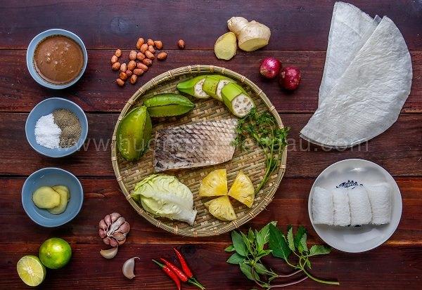 Nguyên liệu làm món cá tai tượng chiên xù