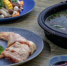 video cách nấu lẩu gà nấu nấm