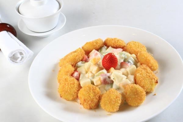 salad sò điệp trái cây