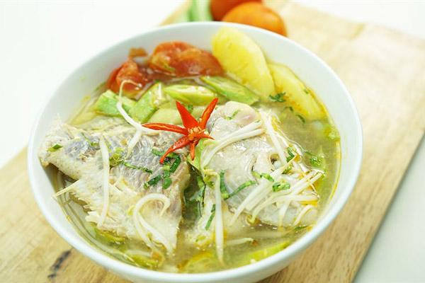 Cách nấu canh chua cá diêu hồng