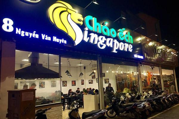 mở quán cháo ếch Singapore
