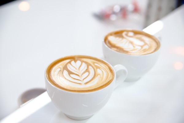 thành phẩm latte art của học viên