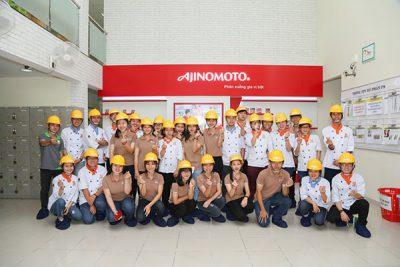 học viên tham quan nhà máy ajinomoto