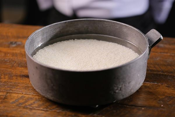 ngâm gạo nếp