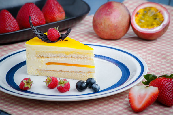 Passion Cheese Mousse Cake