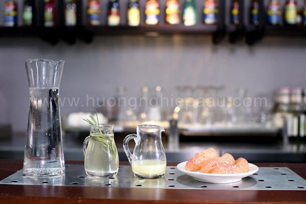 Nguyên liệu pha Mocktail Tropical Pomelo Rosemary