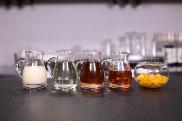 Nguyên liệu pha trà đào Macchiato