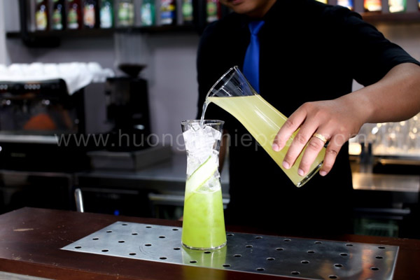 Pha chế Mocktail Cool Fruit Cucumber