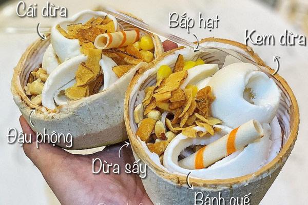cách trang trí kem dừa Thái Lan